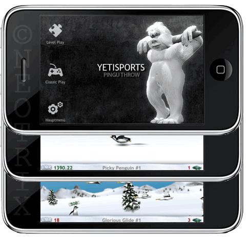 Yetisports für das iPhone und den iPod Touch