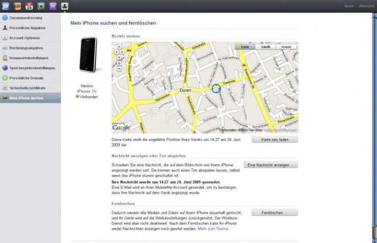 [iPhone] OS3.0 – iPhone suchen und Fernlöschen