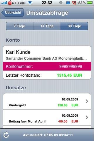 [iPhone] Kostenlose Online-Banking Software