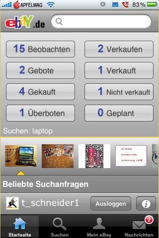 [iPhone] Ebay App mit Push Noficiations