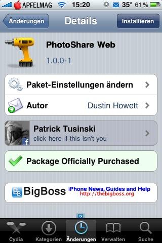 PhotoShare Web – Foto Upload mit dem iPhone