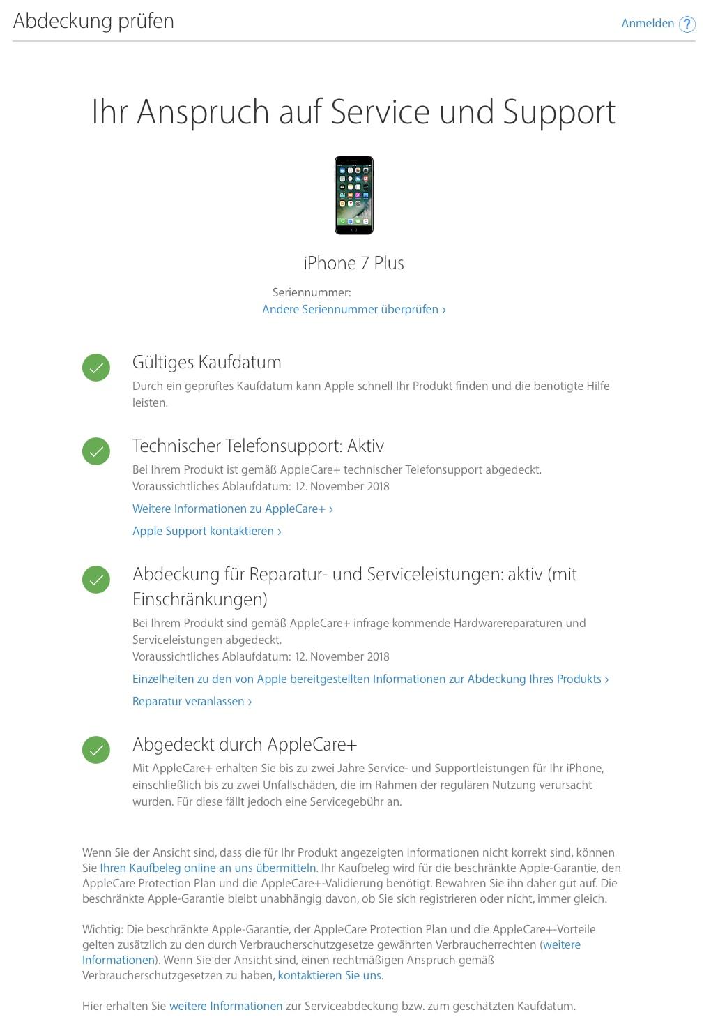 Alle Geräteinformationen zum iPhone auf einen Blick