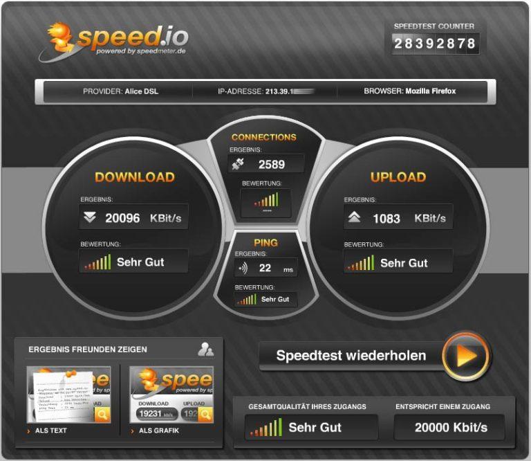Speedtest für das iPhone von Speed.io