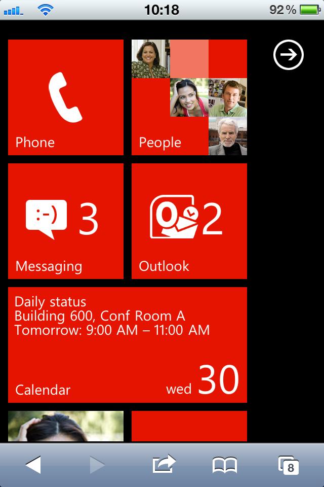 Windows-Phone-7-Simulation für iPhone- und Android-Benutzer
