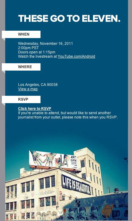 Google gibt Gas: Event am Mittwoch, den 16.11.2011