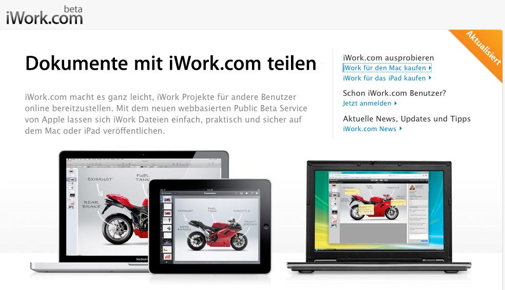 Apple iWork – Projekte teilen leicht gemacht