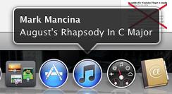 """Im Dock """"Now Playing on iTunes""""-Benachrichtigung anzeigen lassen"""