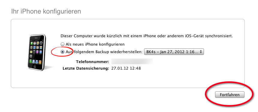 [HowTo] iPhone (iPod & iPad) aus Backup wiederherstellen