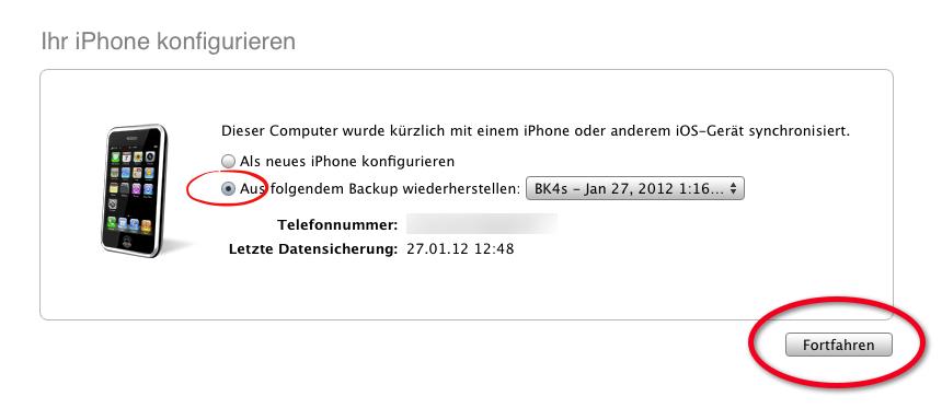 [HowTo] iPhone (iPod & iPad) aus Backup wiederherstellen
