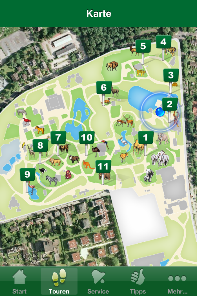 Mit dem iPhone durch den Zoo: GPS-geführte Touren im Hamburger Tierpark Hagenbeck!