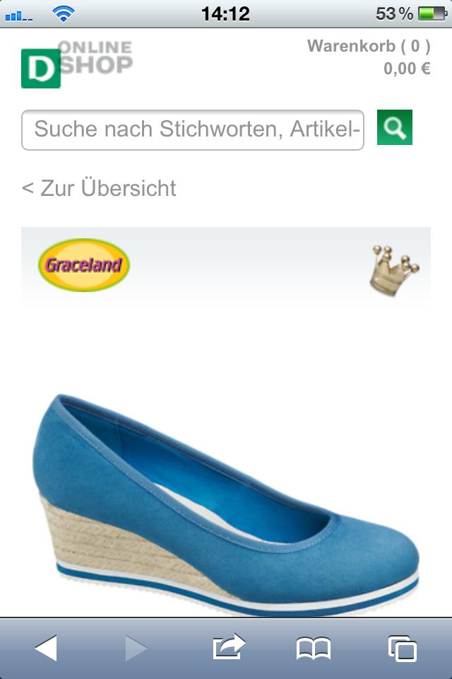 Schuh-Bestellung via Smartphone bei Deichmann