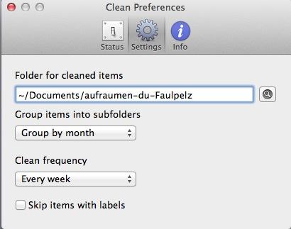 Automatisch den zugemüllten Desktop leeren