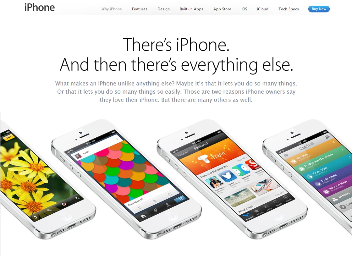 """There's iPhone. And then there's everything else."""
