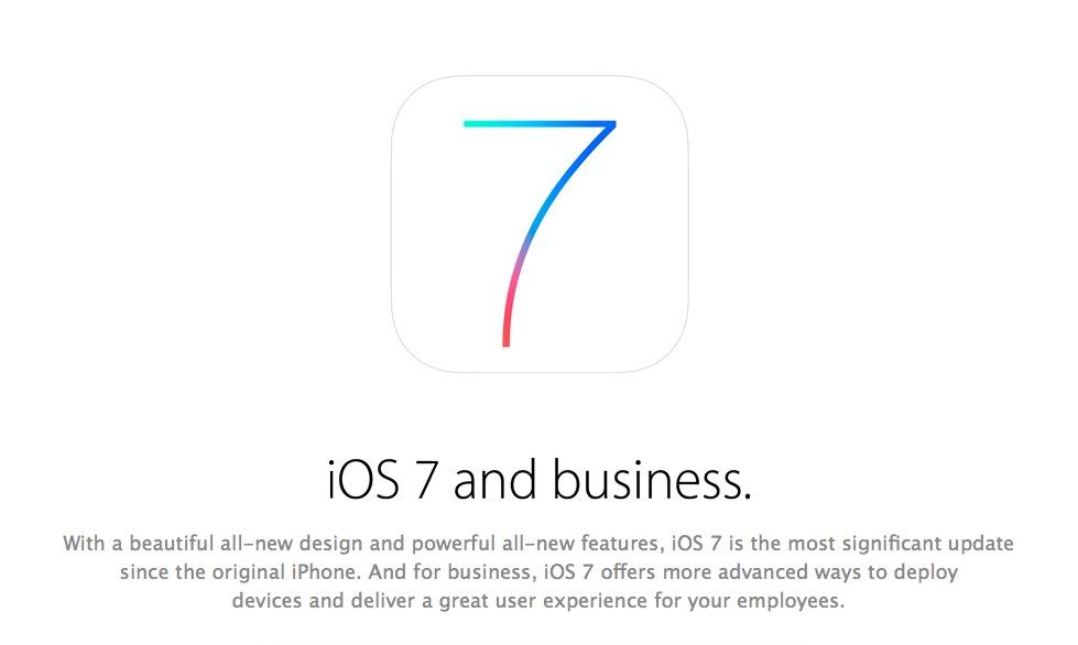More for business: Apple will mit iOS 7 auf Firmen zugehen