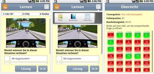 Aktuell Gratis: Motorrad Führerschein Lern App (Android)