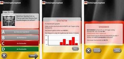 Aktuell Gratis: Einbürgerungstest 2013 nicht nur für Ausländer (Android)