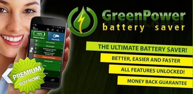 GreenPower Premium – der Batterie-Verlängerer für Android