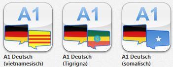 """12 mal Wörterbücher """"A1 Deutsch"""" in 12 Sprachen anstatt je 24,99€ als Aktion nun 9,99€"""