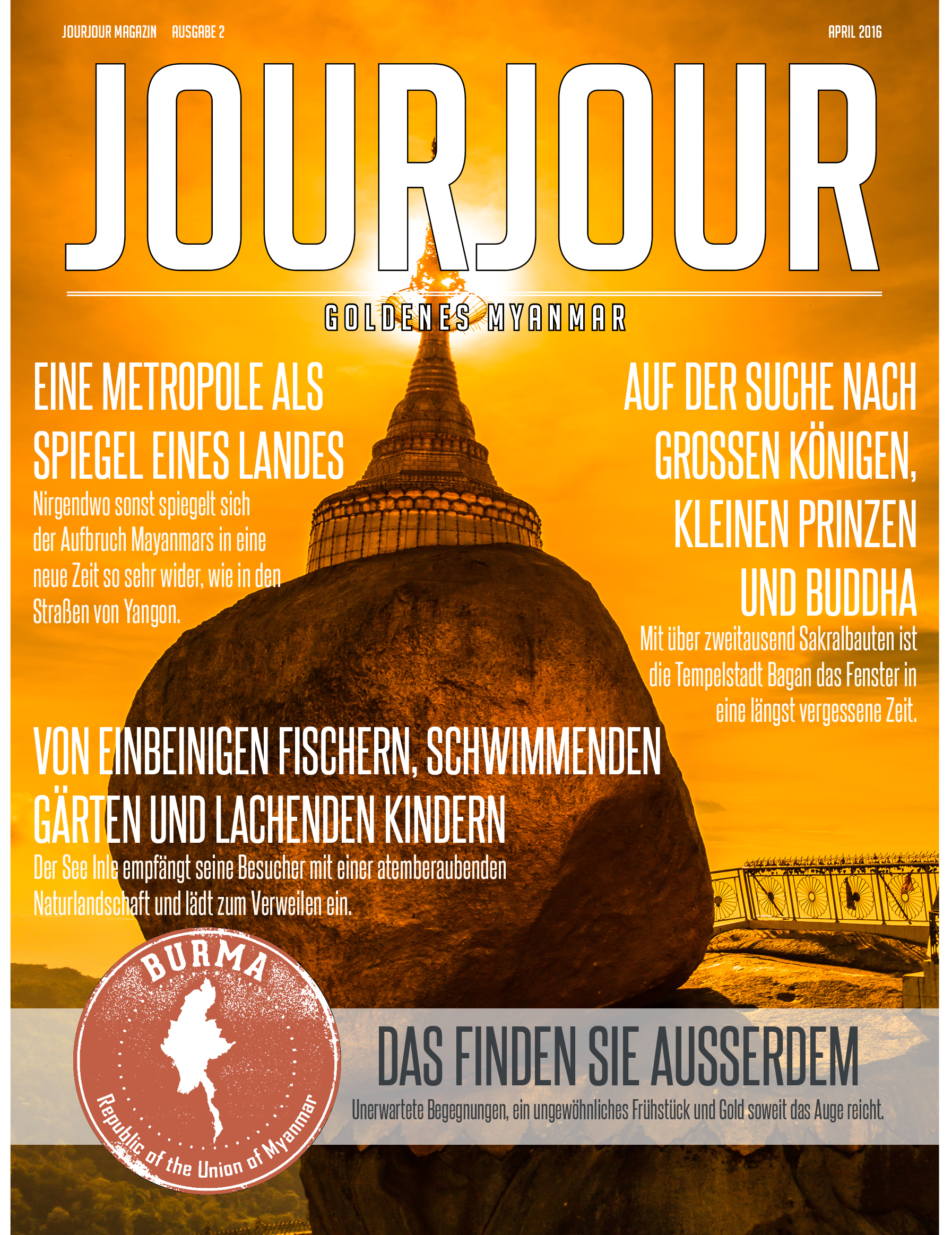 It's time for gold! Die neue Aprilausgabe des JOURJOUR Magazins ist da.