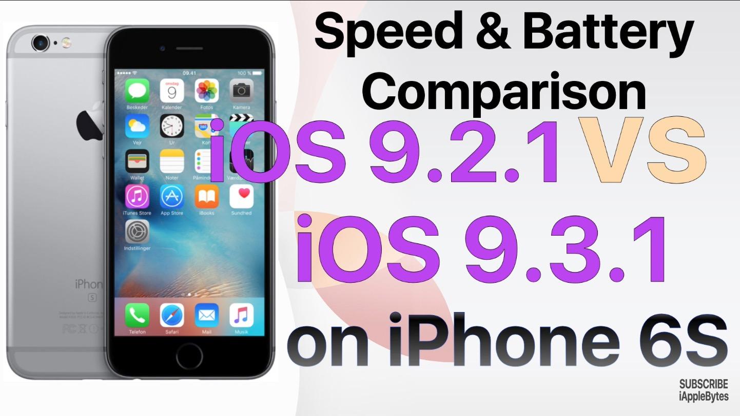 Performance- & Akkuvergleich bei iOS 9.3.1 im Gegensatz zu 9.2.1