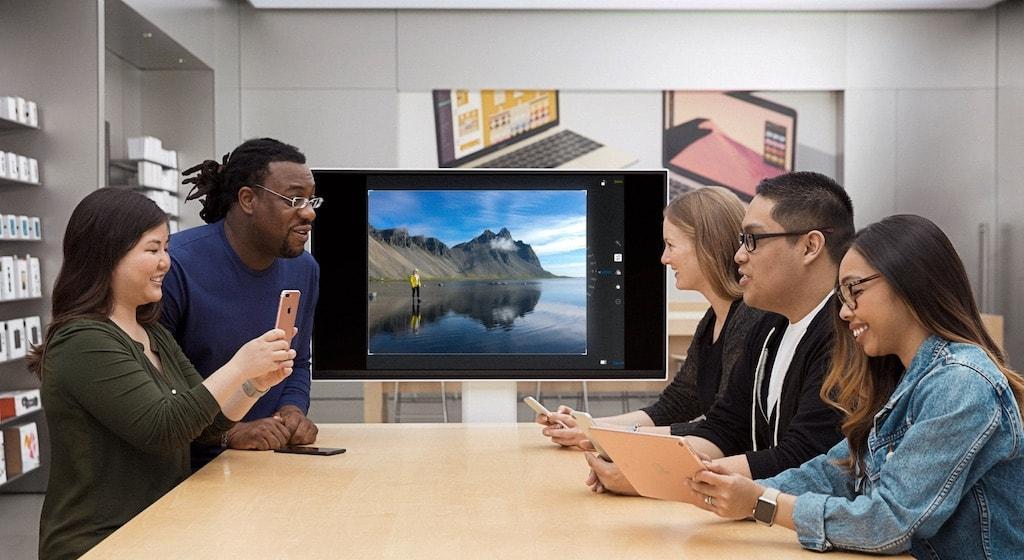 Apple Store Monitor für Schulungszwecke