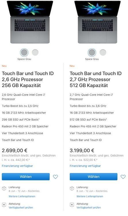 MacBook Pro 15 verspaetetes Lieferdatum