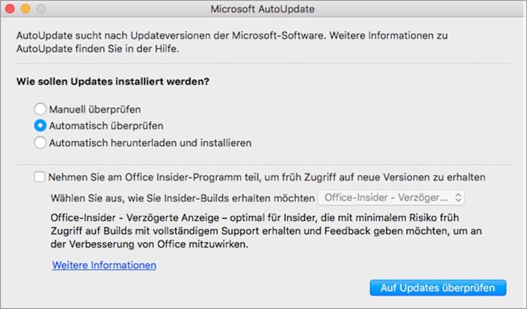 OneNote Microsoft AutoUpdate