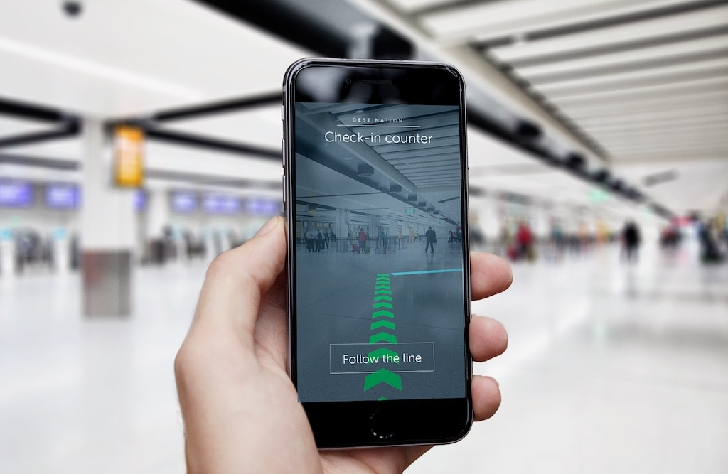 Pointr AR Navigation London Gatwick Flughafen