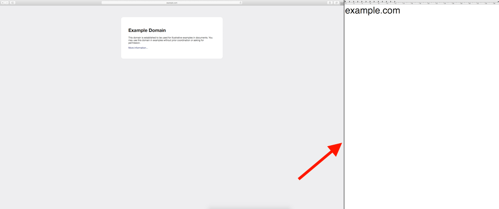 macOS Safari TextEditor Vollbildmodus