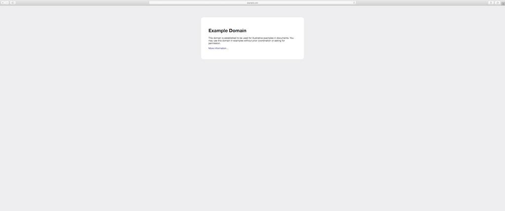 macOS Safari Vollbildmodus