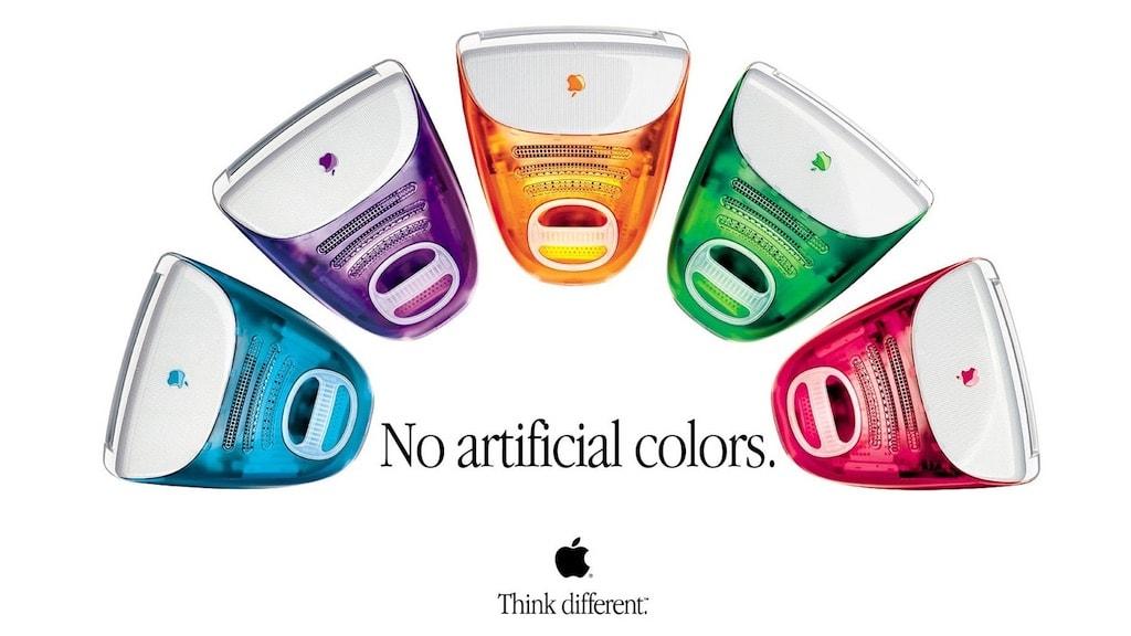 Apple iMac erste Generation Farben Uebersicht