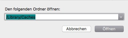 macOS Library Chaches Ordner oeffnen