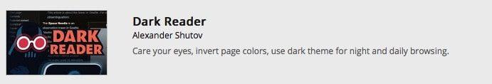 Dark Reader – das Chrome Add-on für angenehmeres Lesen