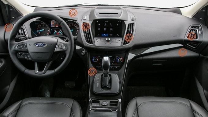 QLYX Moegliche Positionen im Auto