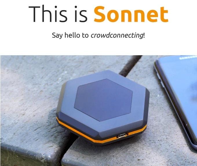 Sonnet – Crowdconnecting dank Crowdfunding