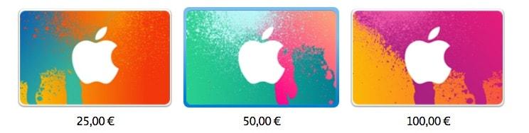 iTunes Gutscheinkarten, diese Woche mit Sonderaktionen