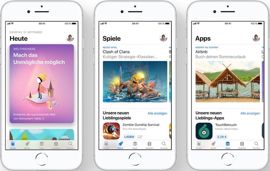 App Store Redesign Heute Spiele Apps