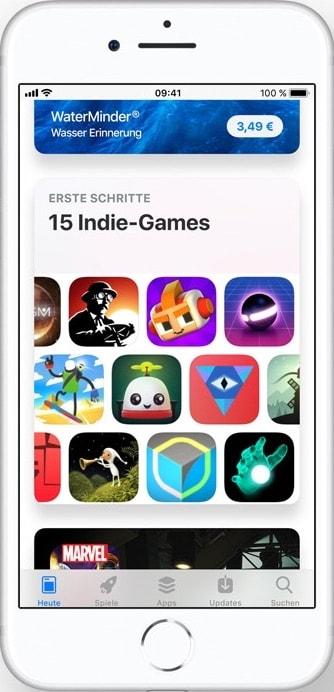 App Store Redesign kuratierte Listen