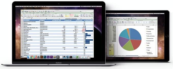 Luna Display Spreadsheets