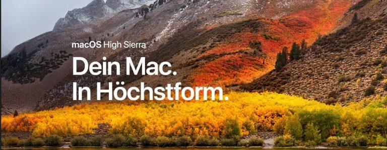 macOS High Sierra ist verfügbar – sollte man jetzt schon updaten?
