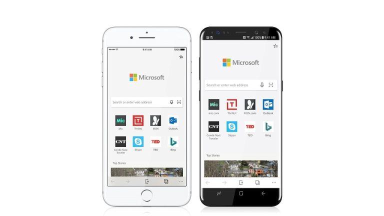 Microsoft Edge für iPhone und Android