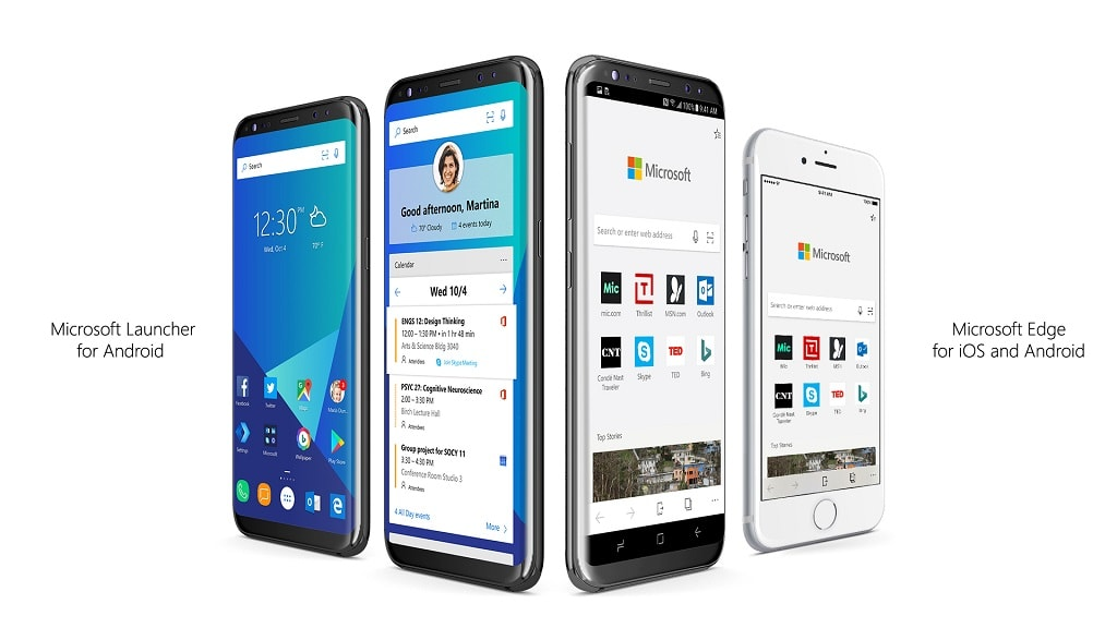 Microsoft Edge iPhone Android und Microsoft Launcher fuer Android