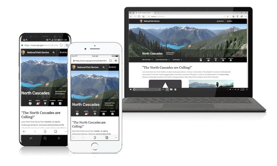 Microsoft Edge iPhone Android und Windows 10