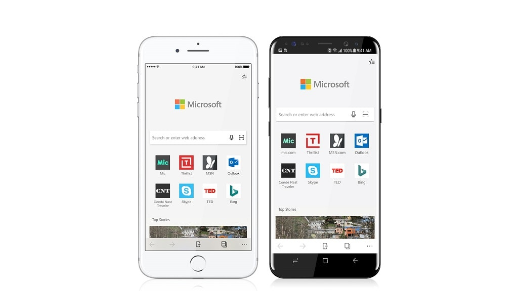 Microsoft Edge iPhone Android