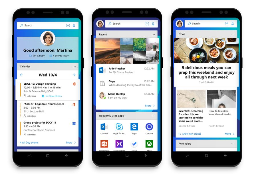 Microsoft Launcher Android Feed