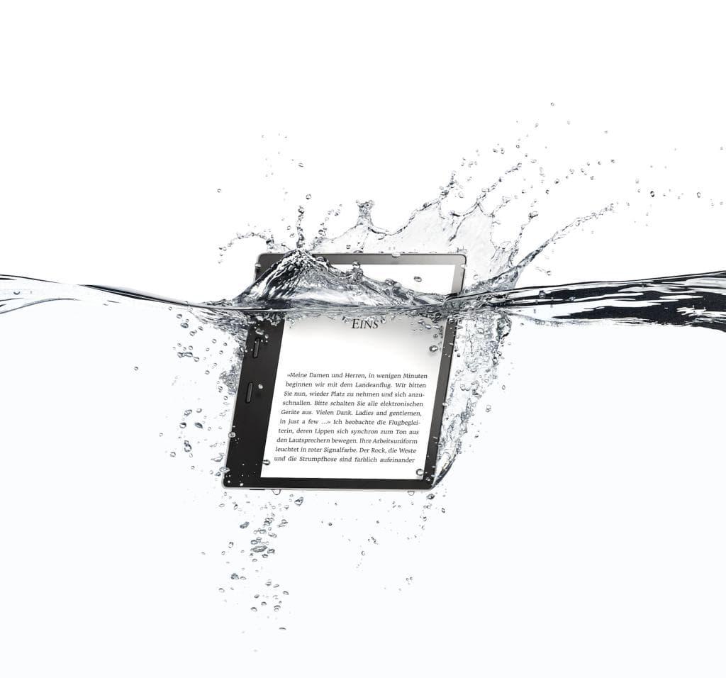 Amazon Kindle Oasis Wasser