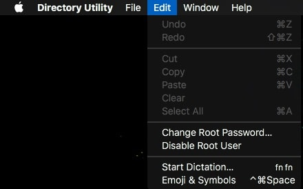 macOS change root password
