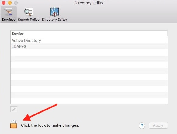 macOS directory utility