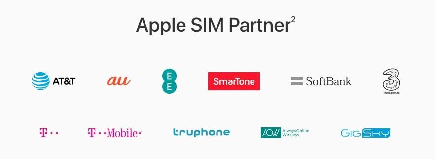 Apple SIM Anbieter