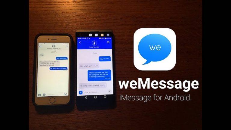 weMessage bringt iMessage zu Android Usern